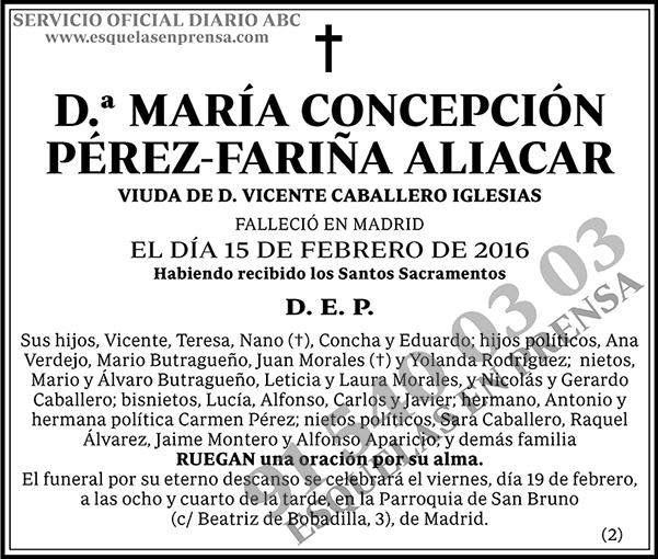 María Concepción Pérez-Fariña Aliacar